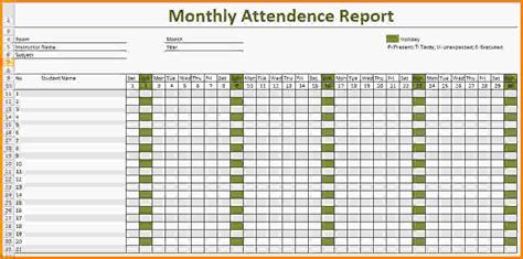 9 attendance spreadsheet template letter template word