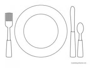 place setting template favorite foods coloring pages craft