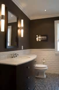 Brown Tile Bathroom Walls Brown And Dark Gray Tile Bathroom Ideas » New Home Design