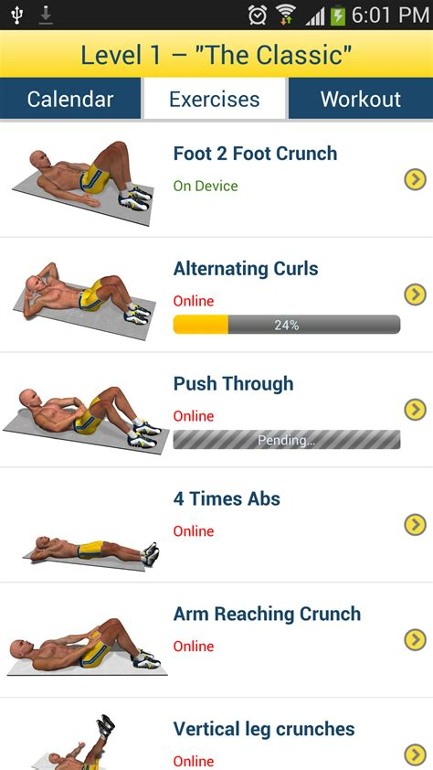 abs workout appstore for android