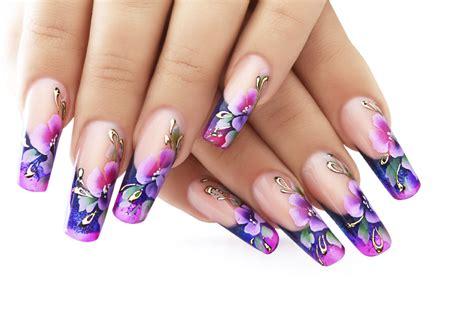 nail acrilico fiori decorare le unghie con i colori acrilici unadonna