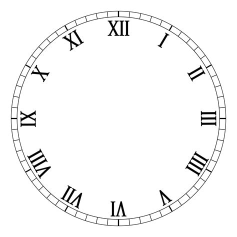 Printable Roman Clock Face | clock dial template clipart best