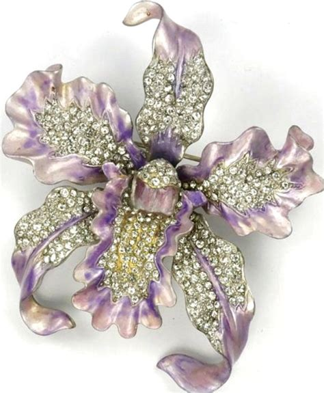 Pandora Enamel Charms 4petal Flower Violet P 565 orchid brooch by boucher brooches by boucher brooches