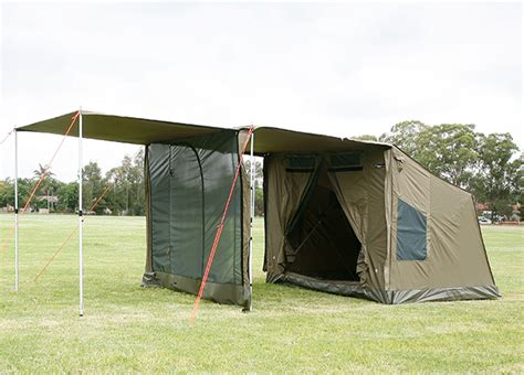 Oztent Side Awning by Deluxe Front Panel For Oztent Adventure Ready