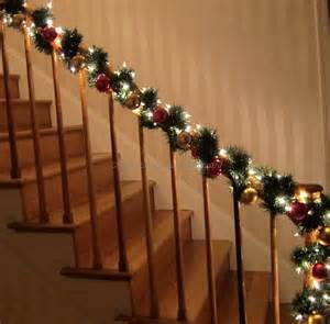 Garland On Banister Christmas Staircase Garland Ideas Best Staircase Ideas