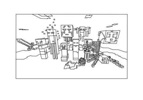 minecraft halloween coloring page minecraft do druku