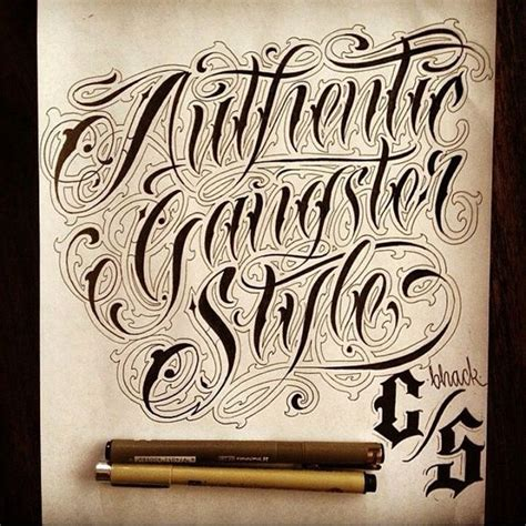 tattoo fonts gangster the world s catalog of ideas