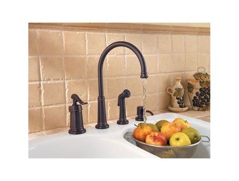 extraordinary 4 hole kitchen faucet with soap dispenser pfister lg26 4ypy ashfield 4 hole kitchen faucet with