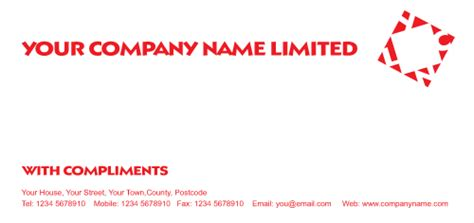 with compliments card template with complement slips printing printroo australia