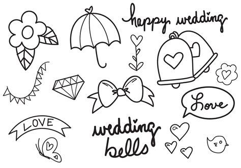 Wedding Bell Drawing by Wedding Bells Vector Set Free Vector