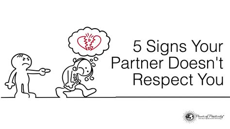 how to your to respect you 5 signs your partner doesn t respect you