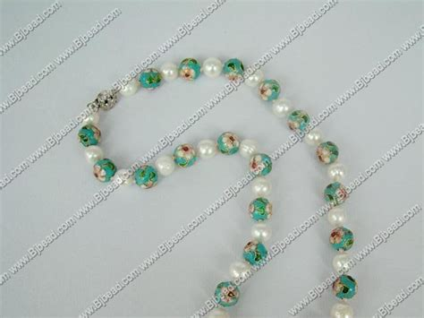 Korean Handmade Jewelry - pearl cloisonne bead necklace wholesale jewelry handmade