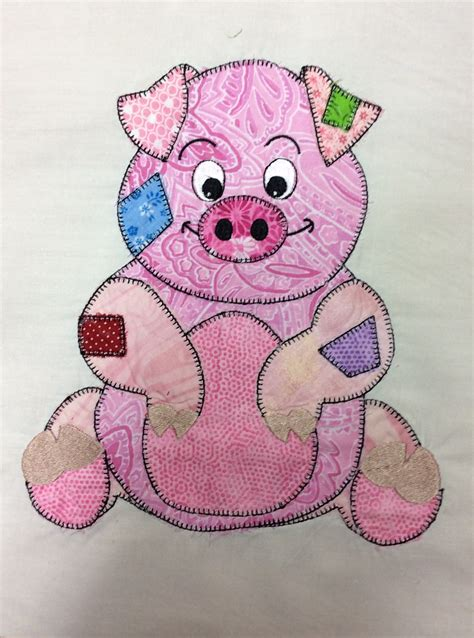 Patchwork Animal Patterns - 3rd block for baby quilt