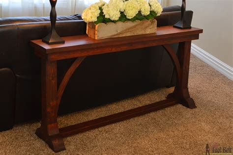 sofa table plans free build a sofa table remodelaholic stylish and simple diy