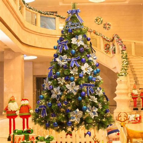 ecological christmas trees decorative royal blue ornament environmental pvc tree