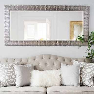 living room mirrors for sale silver squares framed mirror 32x66 in living room
