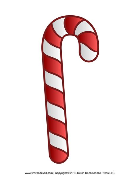 free candy cane template printables clip art decorations