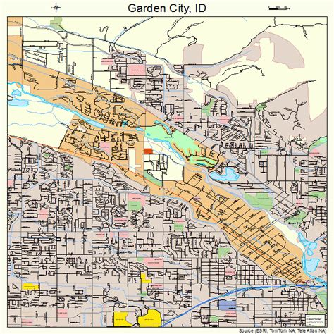 Garden City Garden City Idaho Map 1629620