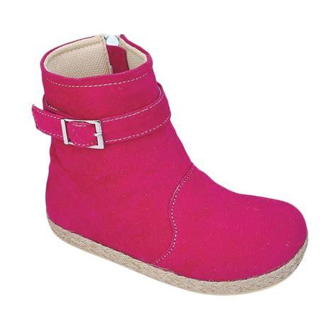 Sepatu Anak Perempuan Cye 218 Murah jual syaqinah 218 sepatu boots anak perempuan pink