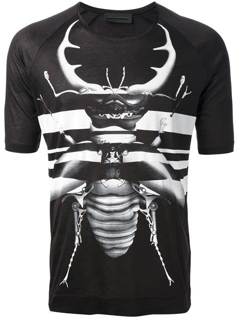 Black Printed T Shirt Mens by Lyst Diesel Black Gold Printed T Shirt In Black For