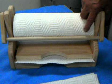 How To Make A Paper Towel Holder Out Of Wood - paper towel holder avi