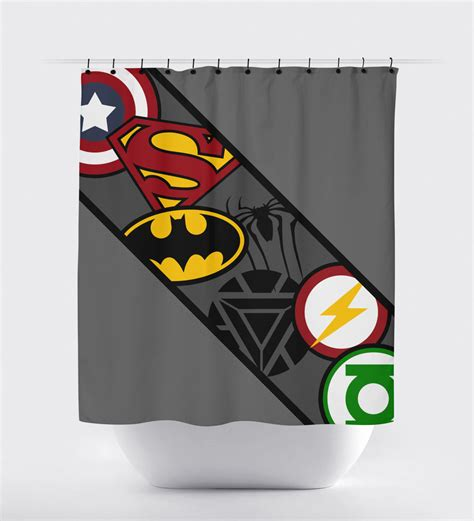 Superhero Shower Curtain Super Hero Shower Curtain Shower