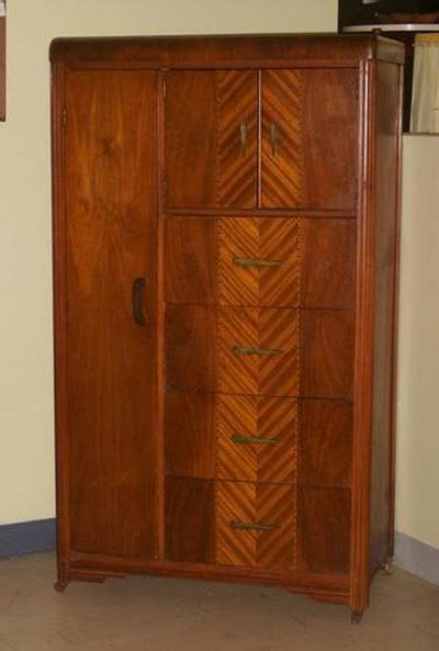 chifferobe armoire antique art deco waterfall wardrobe chifferobe armoire 01