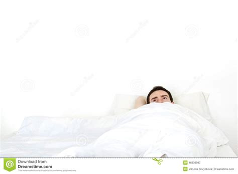 algerian men in bed alone young man in a bed royalty free stock photography