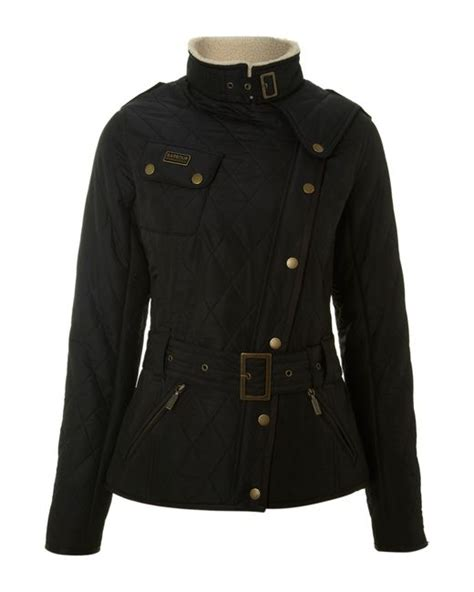 Barbour Matlock Quilted Jacket by Barbour Matlock Quilted Biker Jacket In Black Lyst