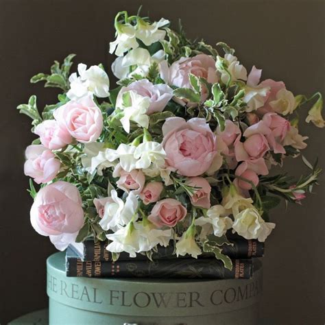 peas and peonies heavenly scented ivory english sweet peas and peony pink
