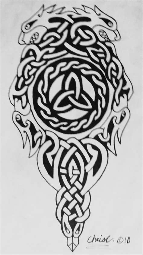 celtic tribal dragon tattoo celtic images designs