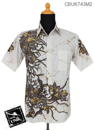 Kemeja Pastel Katun Wanita Kode753189 kemeja batik motif tanaman tanduk pastel kemeja pendek murah batikunik