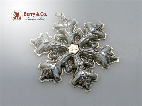 gorham christmas ornament sterling silver 1985 from