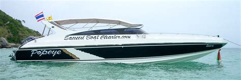 speed boat knots matthew samui boat yacht charter luxury private speed