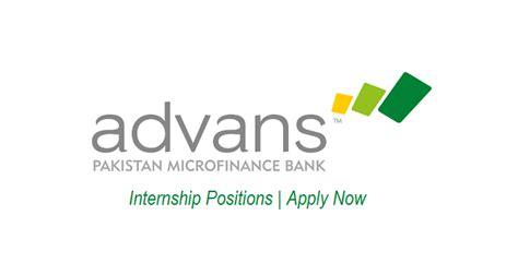 Mba Internships Sargodha by Advans Pakistan Microfinance Bank Internship Apr 2018
