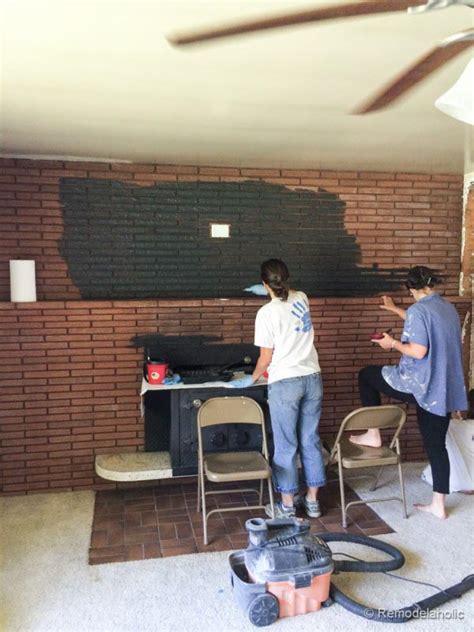 black painted brick fireplace fireplace designs