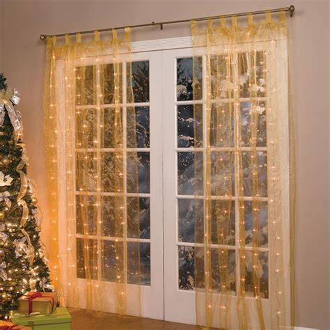 christmas curtain panels 84 quot lighted pre lit christmas light window panel curtain