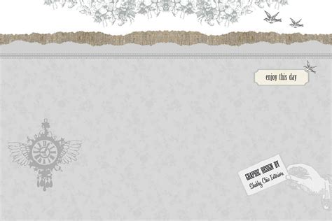 5 best images of shabby chic website design templates