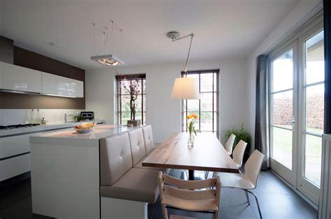 open kitchen cum dining room interior design idea