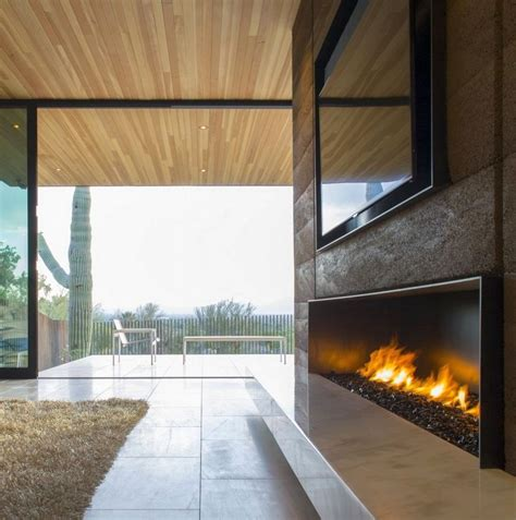 20 modern fireplace designs with glass