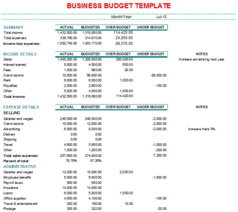 corporate budget template excel business budget spreadsheet template budget spreadshee