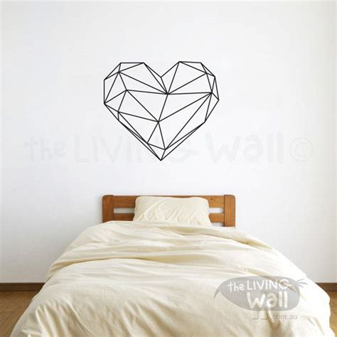 Geometric Heart Wall Decals Home Decor Removable Vinyl Wall Stickers Geometric Heart