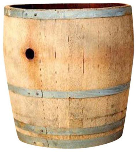 water tight oak wood wine barrel planter 26 quot d x 26 quot h