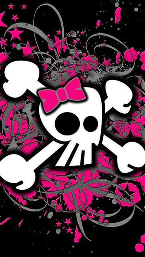 girly black wallpaper girly skull iphone wallpaper black pink wallpapers