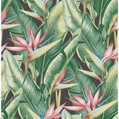 Home Decor Gift Ideas by Kenneth James Arcadia Pink Banana Leaf Wallpaper Ps40201 The Home Depot