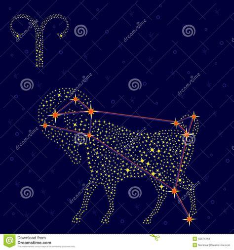 Sternzeichen Löwe Stier by Sternzeichen Widder 252 Ber Sternenklarem Himmel Stock