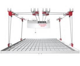 powerrax motorized garage overhead storage powerrax