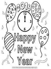 happy new year coloring pages image gallery new year 2016 coloring page