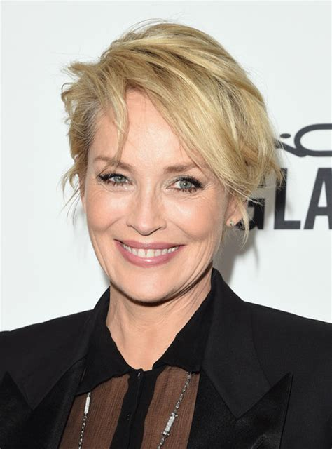 pics of sharon stones hair cut only print out front and back sharon stone messy cut short hairstyles lookbook
