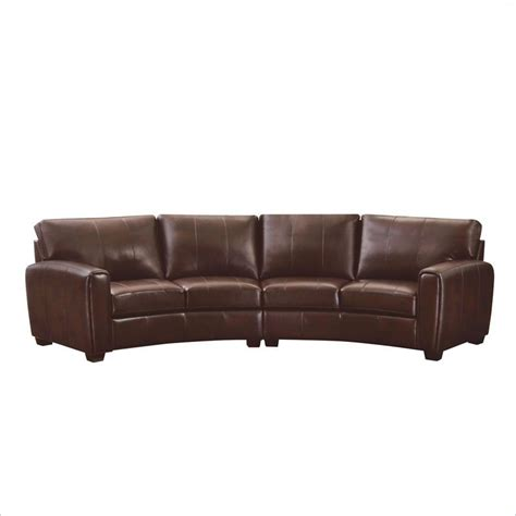 Coaster Cornell 2 Piece Curved Sofa Sectional In Brown